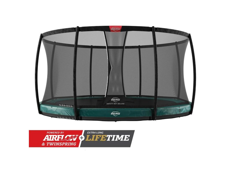 BERG Elite InGround Trampoline 430 Groen (incl. veiligheidsnet deluxe)