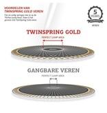 BERG Elite InGround Trampoline 430 Grijs Levels (incl. veiligheidsnet deluxe)