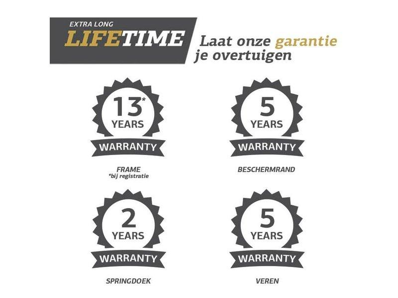 BERG Elite InGround Trampoline 430 Grijs Levels (incl. veiligheidsnet deluxe xl)