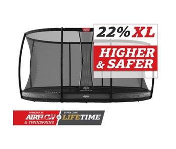 BERG Grand Elite InGround 520x345 Grijs + veiligheidsnet deluxe xl