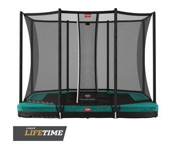 BERG Ultim Favorit InGround 280x190 Groen + veiligheidsnet comfort