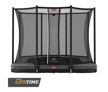BERG Ultim Favorit InGround 280x190 Grijs + veiligheidsnet comfort