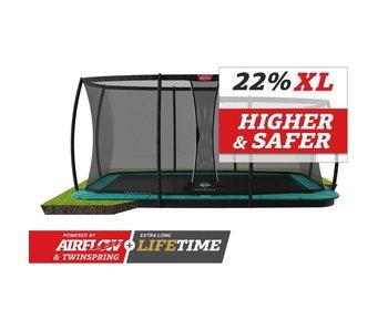 BERG Ultim Champion FlatGround 410x250 Groen + veiligheidsnet deluxe xl