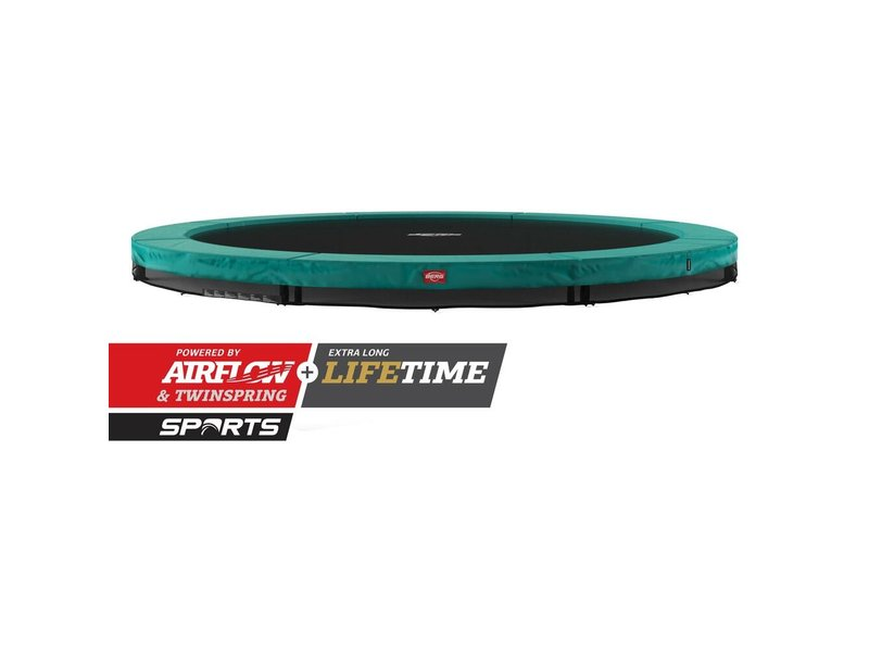 BERG Champion InGround Trampoline 430 Groen (excl. veiligheidsnet)