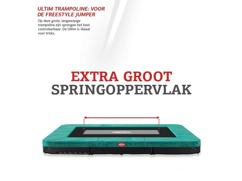 BERG Ultim Favorit InGround Trampoline 410x250 Zwart (excl. veiligheidsnet)