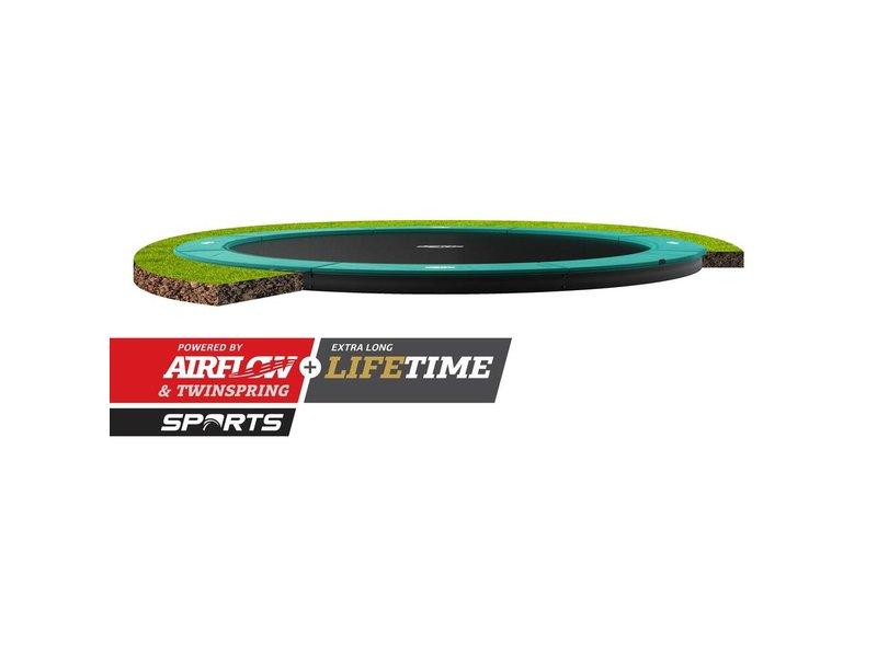 BERG Champion FlatGround Trampoline 380 Groen (excl. veiligheidsnet)
