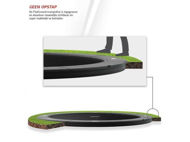 BERG Champion FlatGround Trampoline 430 Grijs (excl. veiligheidsnet)