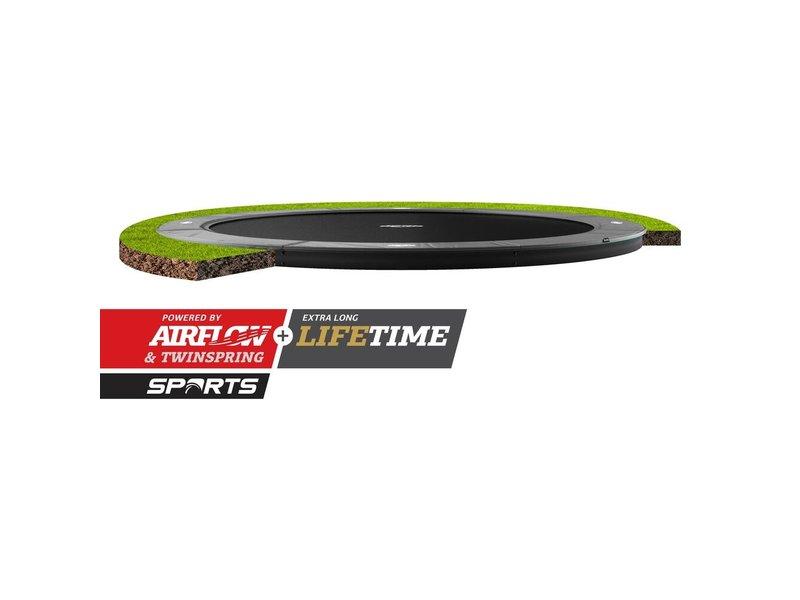 BERG Elite FlatGround Trampoline 380 Grijs (excl. veiligheidsnet)