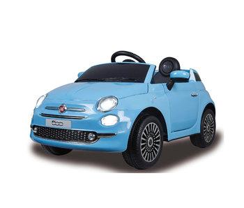 E-Car elektrische auto Fiat 500 12v blauw