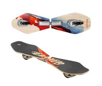 Street Surfing Waveboard Rider Wood Abstrakt 83cm