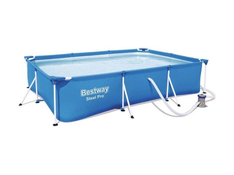 Bestway Steel Pro zwembad  300 x 201 x 66 cm - met filterpomp