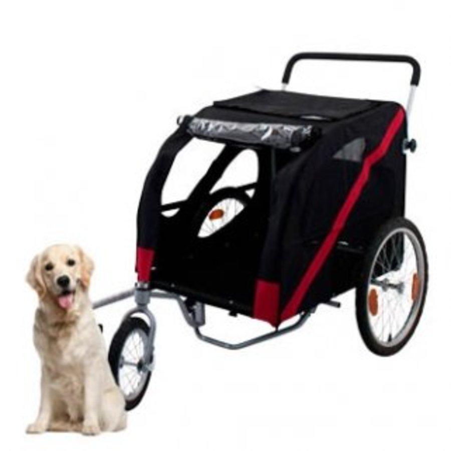 Hondenfietskar Doggy Deluxe Exclusivio met wandelset