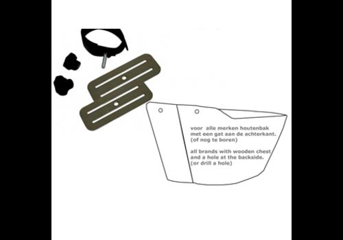Bakfiets kinderzitje bevestigingsset 3-puntsgordel