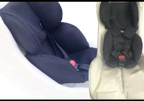 Peuterschaal fietskar Comfort Plus 7-18 mnd - Leer