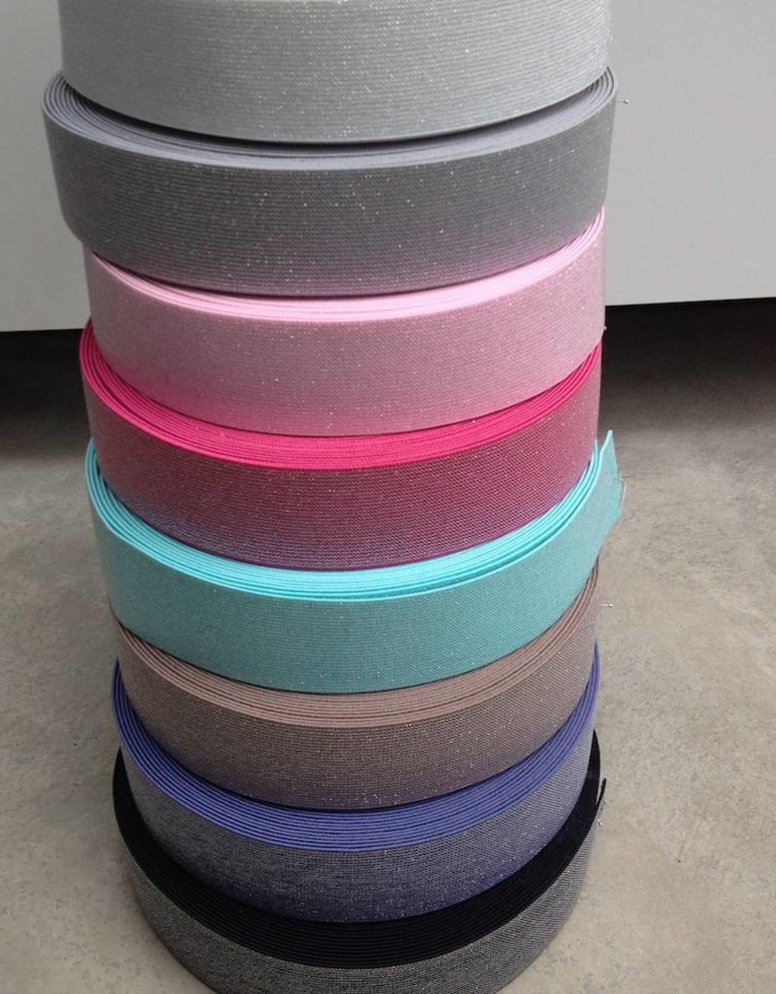 Glitter Elastiek  - Fris Mint