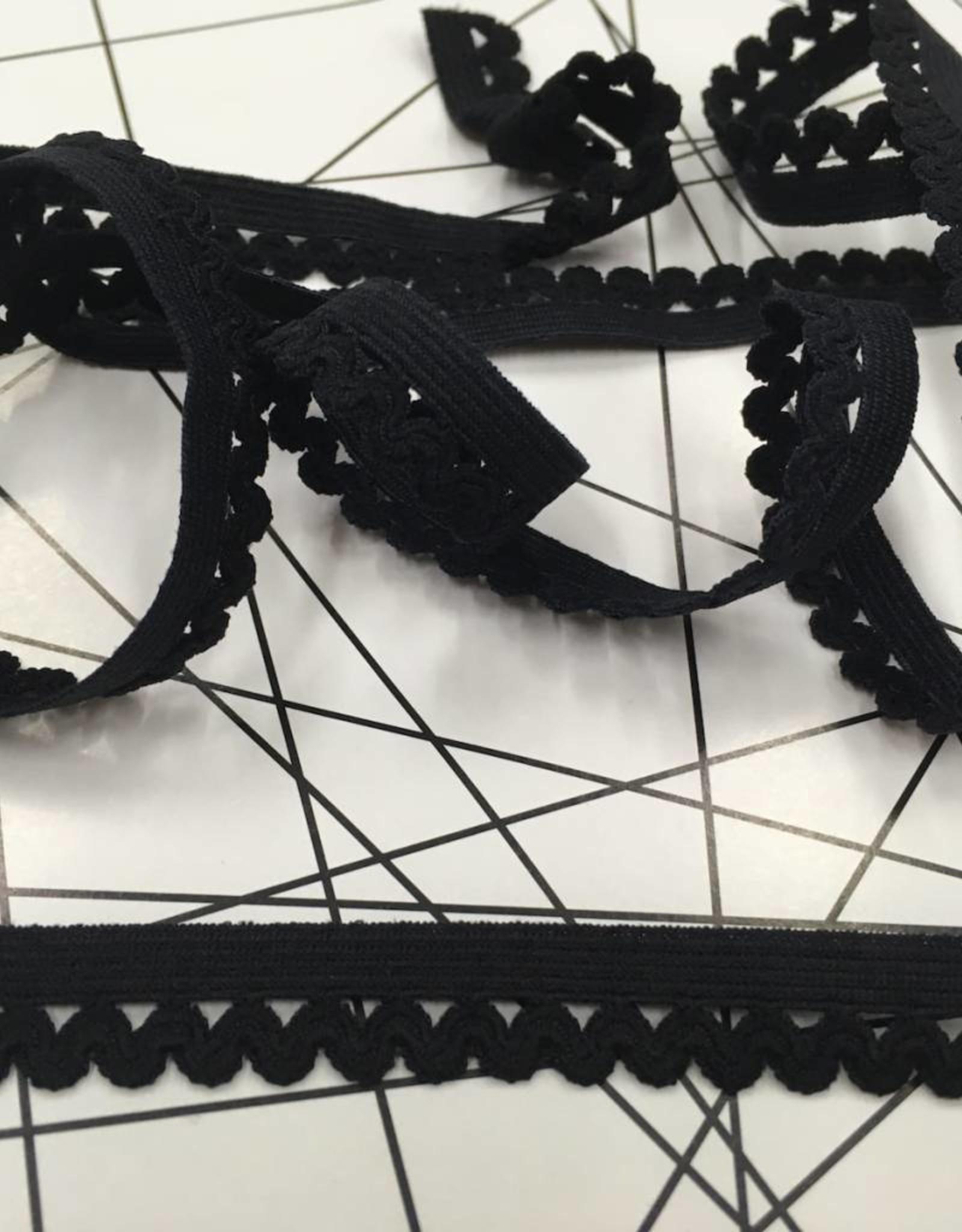 Elastische Sierlint - Zwart