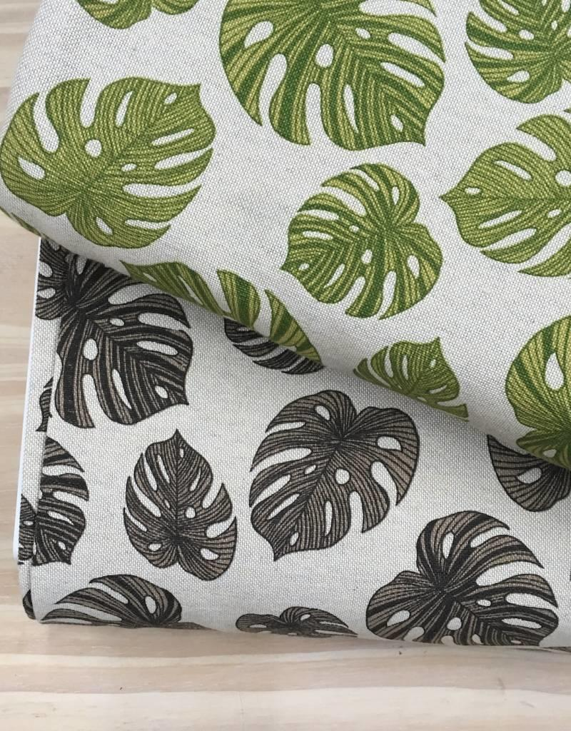 Canvas - Monstera - Taupe