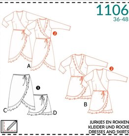 Patroon - It's a fits 1106 - Overslag Jurk en Rok