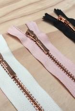 Rits - Rosé metaal - Wit