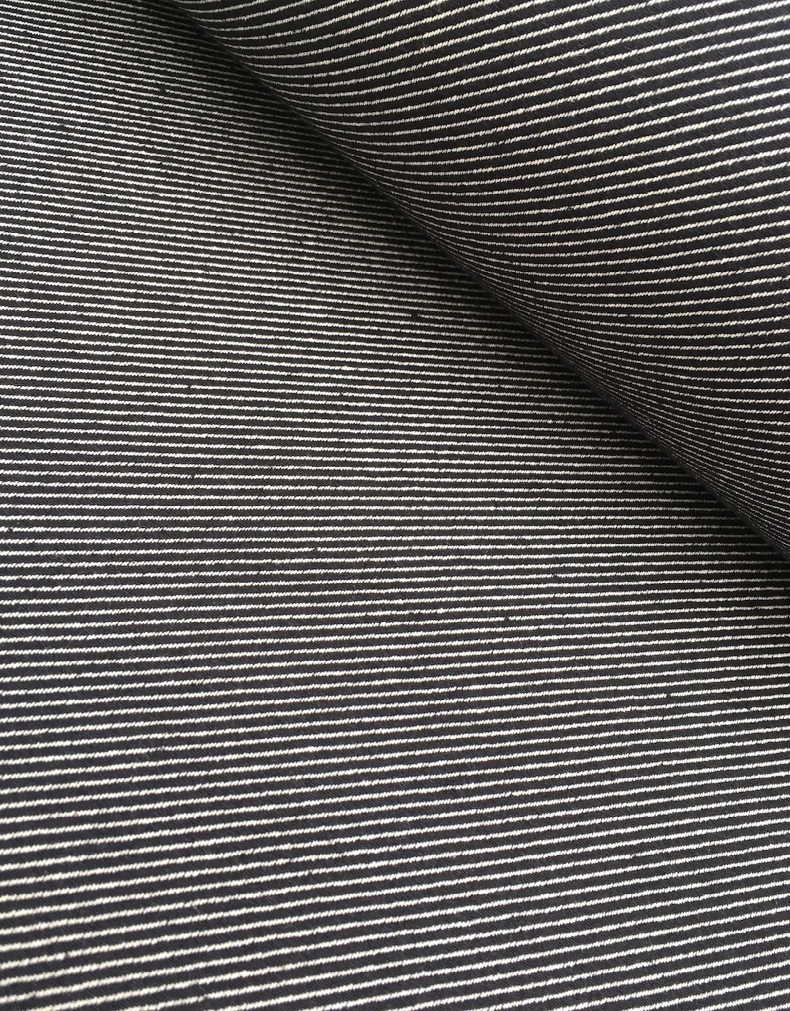 Canvas - Jaquard - Diagonaal - Zwart