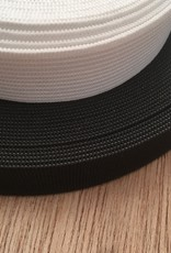Elastiek  - 2,5 cm - wit