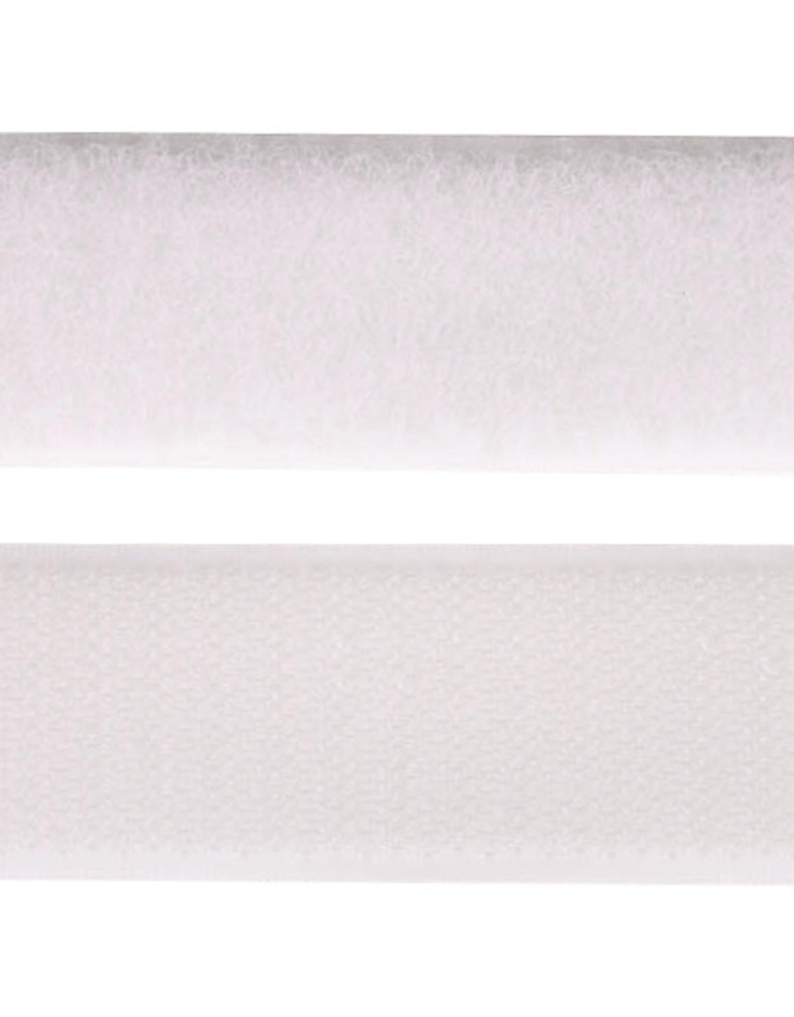 Klittenband - 2 kanten - Wit