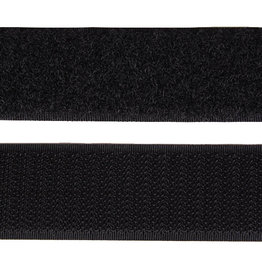 Klittenband - 2 kanten - Zwart