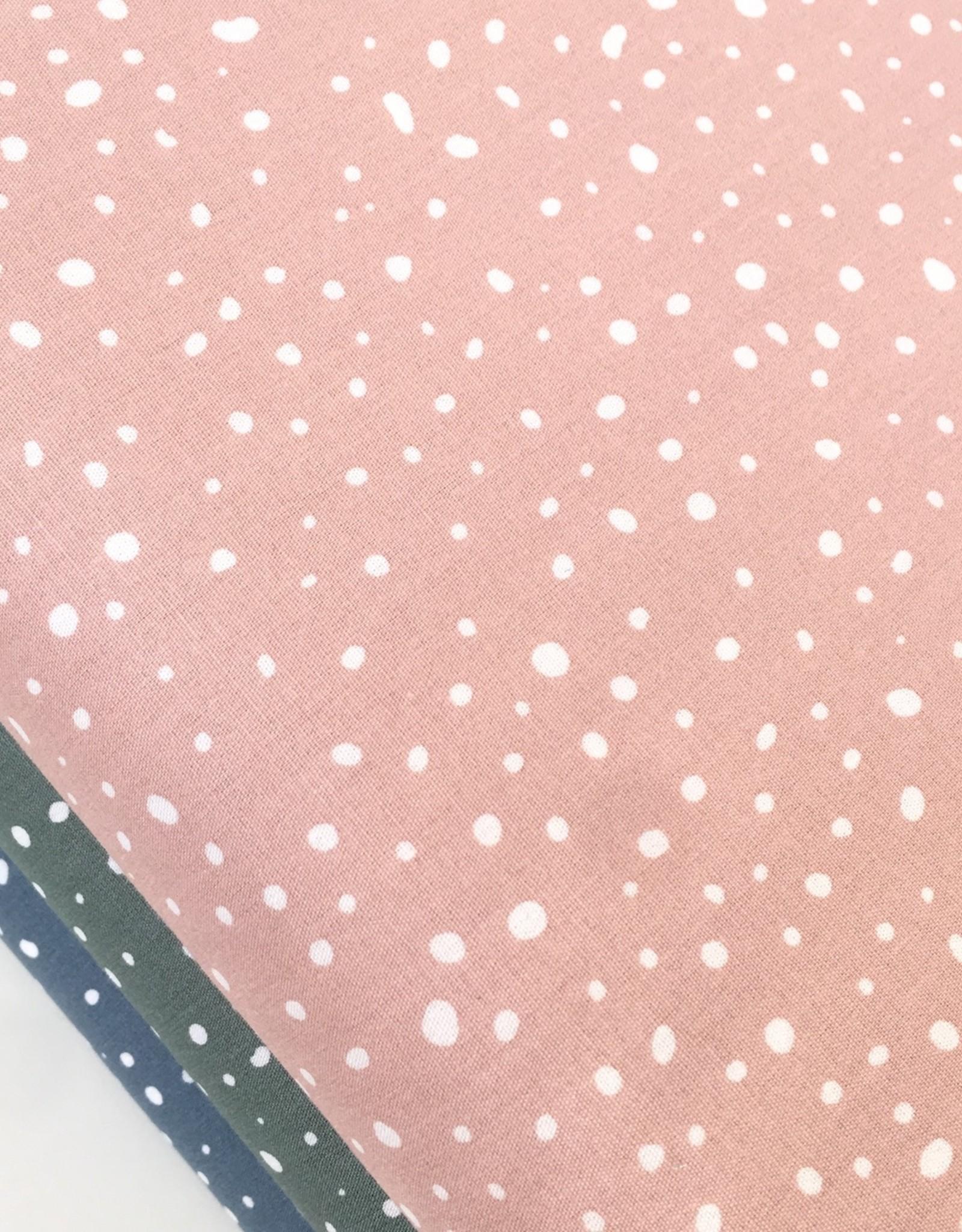 Bio Katoen - Spots - Dusty Pink