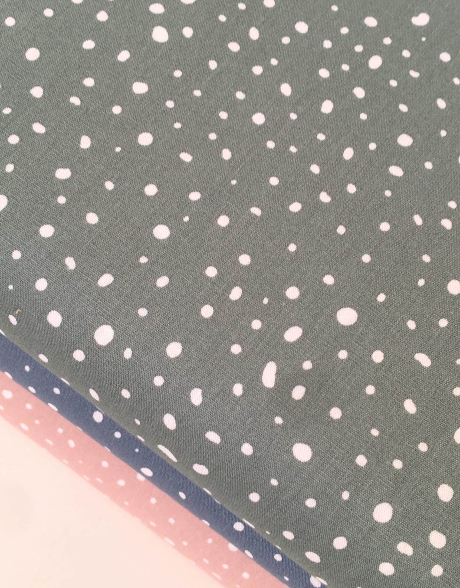 Bio Katoen - Spots - Dusty Green