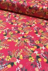 Art Gallery Katoen - Mia Flower - Pink