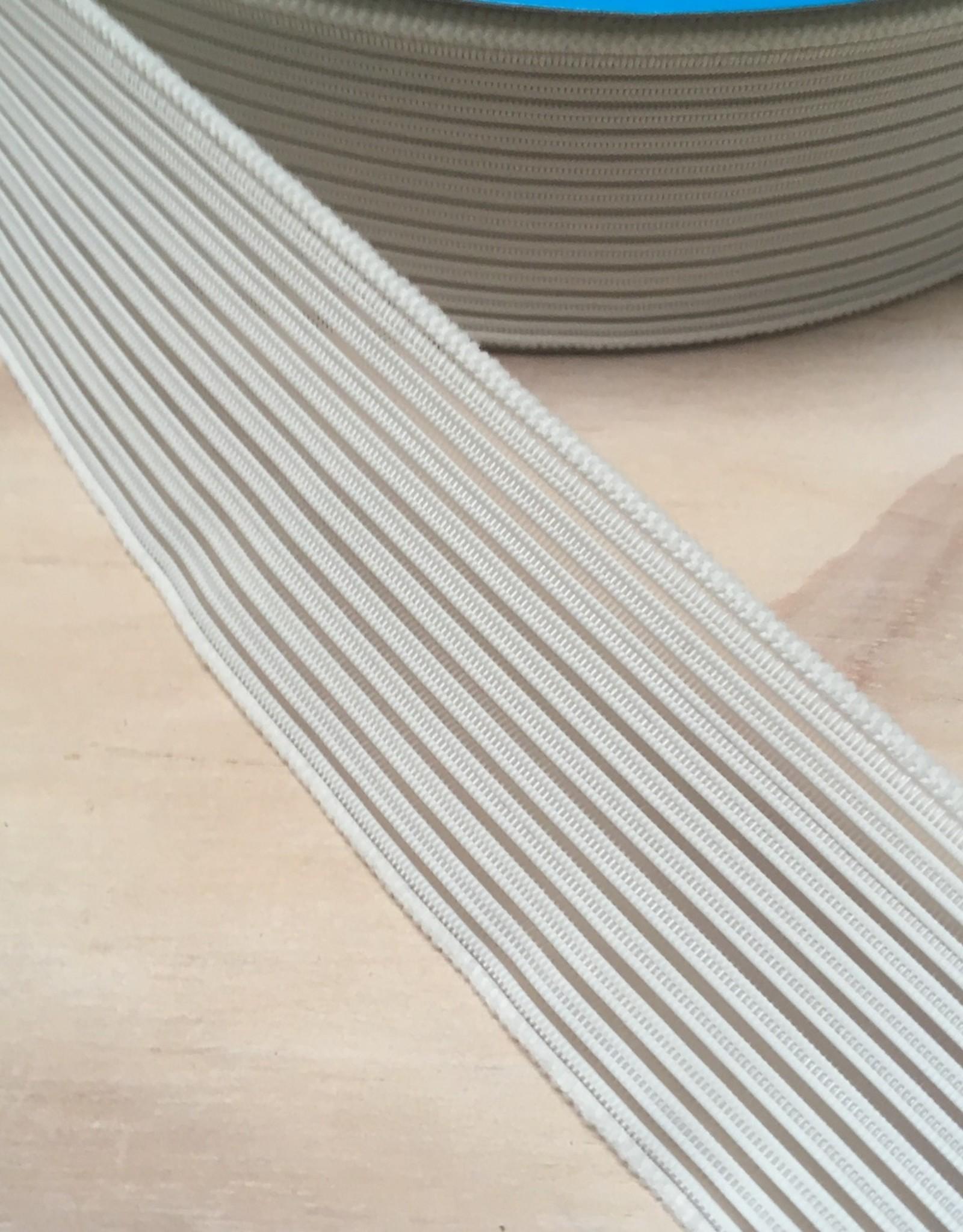 Gaas elastiek  - 4 cm - Wit