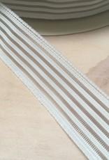 Gaas elastiek  - 2,5 cm - Wit