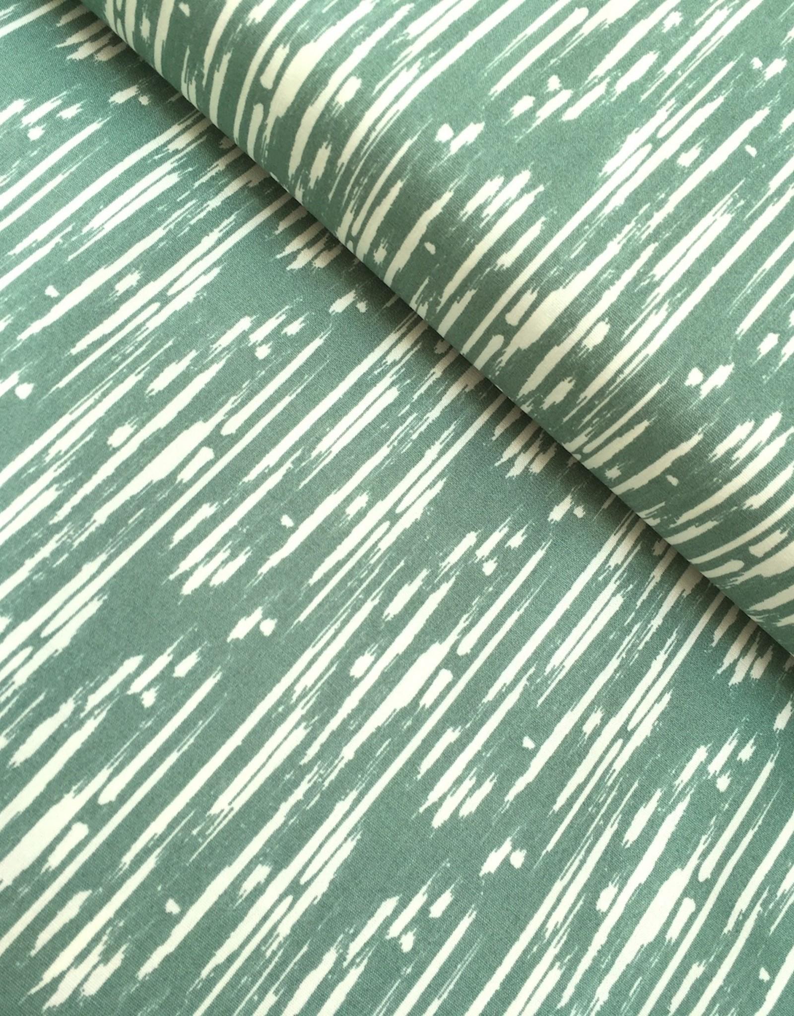 Art Gallery Katoen - Green Stripes