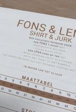 WISJ Patroon WISJ - Fons tshirt & Lena jurk