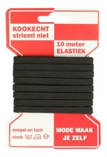 Elastiek  - zwart 6 mm - 10m
