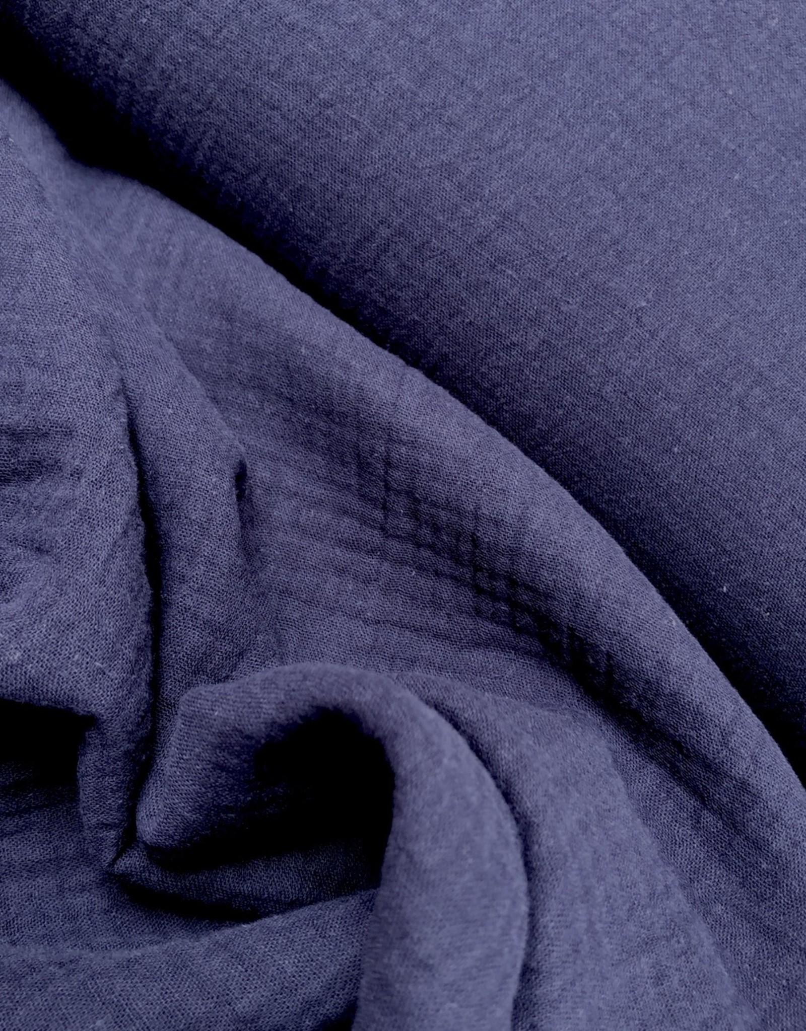 Double Gauze - Effen - Marineblauw