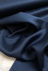 Satijn - Effen - Marineblauw