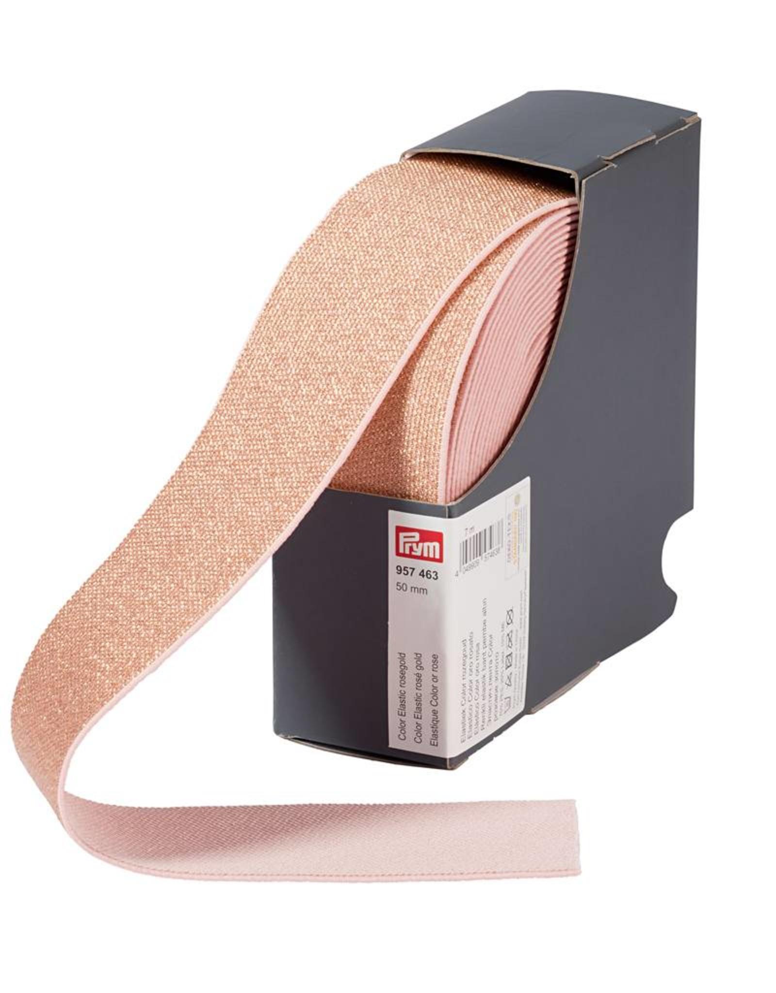 Elastiek - Glitter - Zacht rose - 5cm