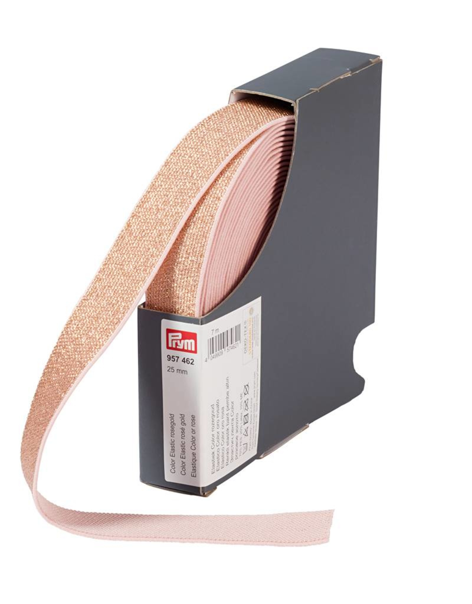 Elastiek - Glitter - Zacht rose - 2,5cm