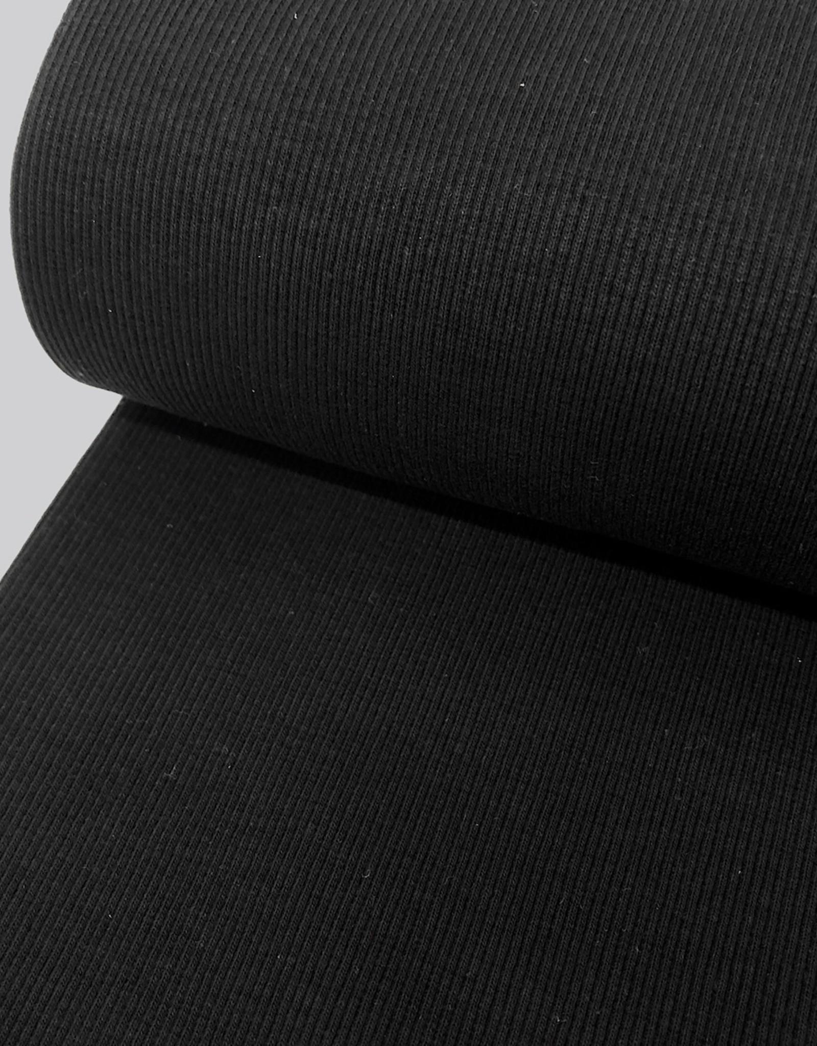 Boordstof fijne ribbel - Zwart