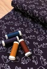 Katoen - Hippo & Olifant - Blauw