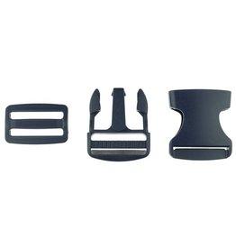 Klikgesp - Marineblauw - 38mm