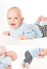 MiniKrea Patroon - Baby broek & T-shirt & Muts