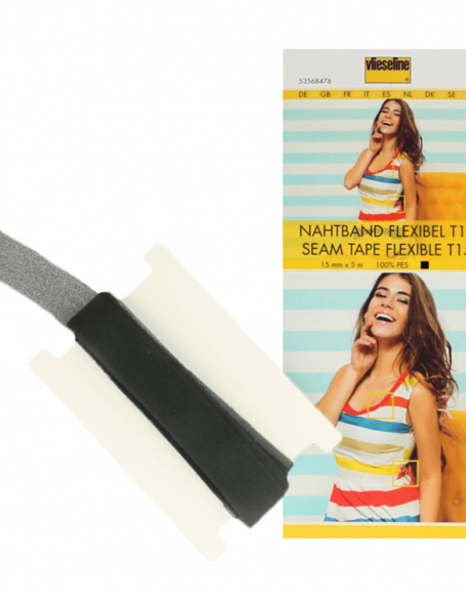 Vlieseline Flexibele Naadband - 1,5cm - Zwart