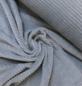 Stretch Rib Velours - Dusty Blue