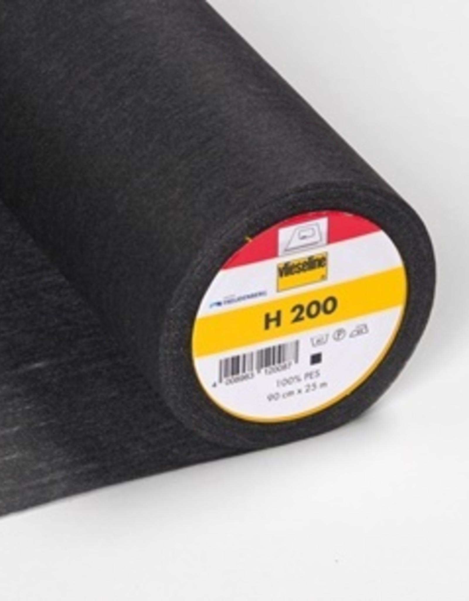 Vlieseline Strijkvlies versteviging - H200 - Zwart
