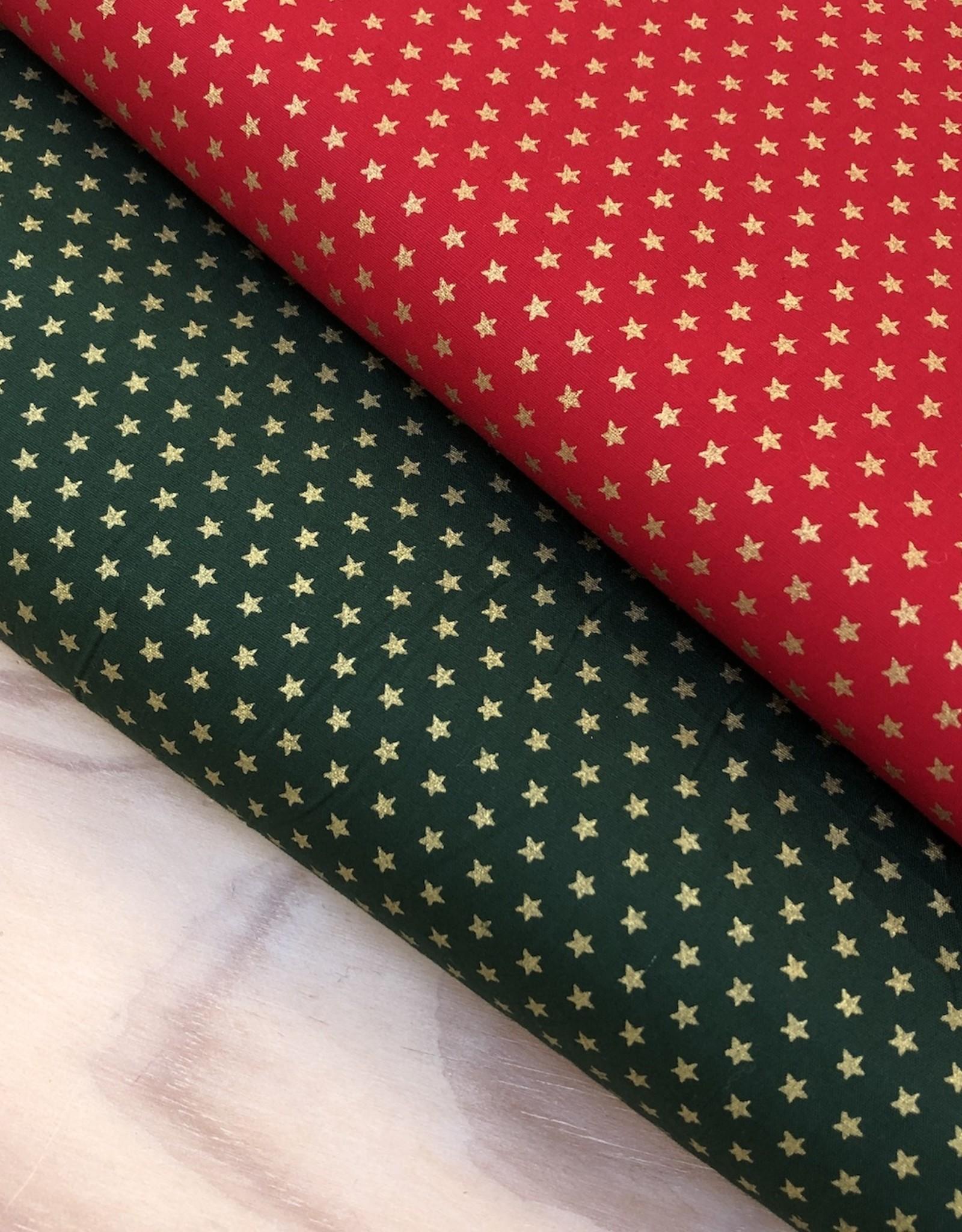 Katoen - Christmas Stars - Groen