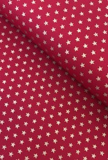 Katoen - Christmas Stars - Rood
