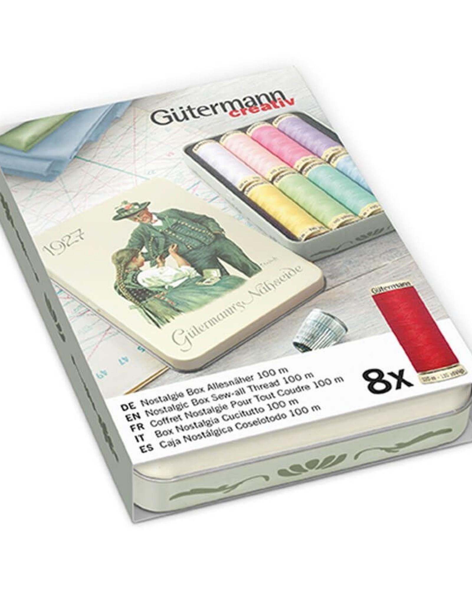 Gütermann Toffe set - Naaigaren Pastel in blikken doosje