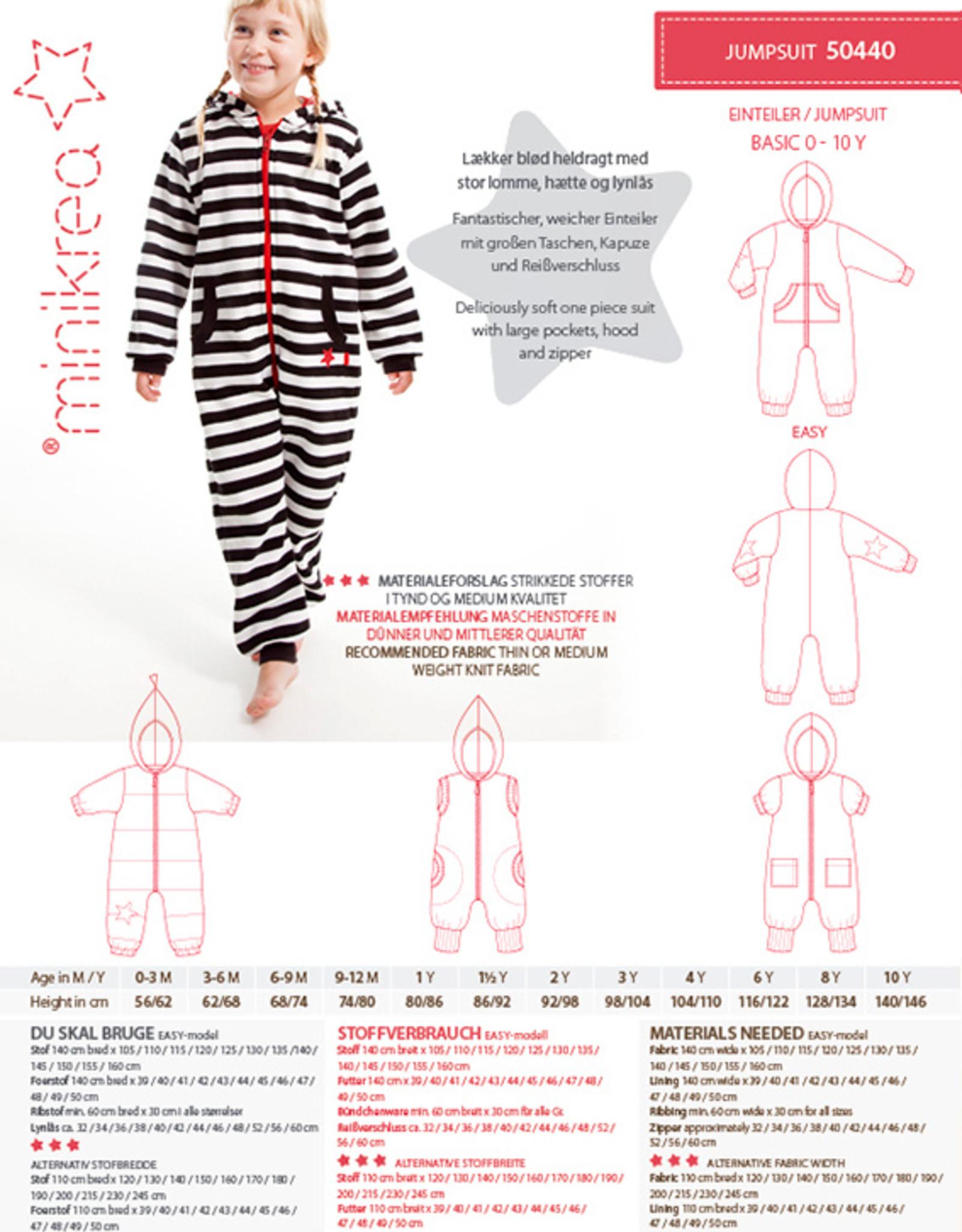MiniKrea Patroon - Onesie - Jumpsuit